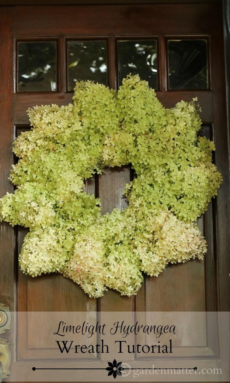 This is an easy tutorial on how to make a wreath with limelight hydrangea flowers. It's really easy and takes about an hour to complete..