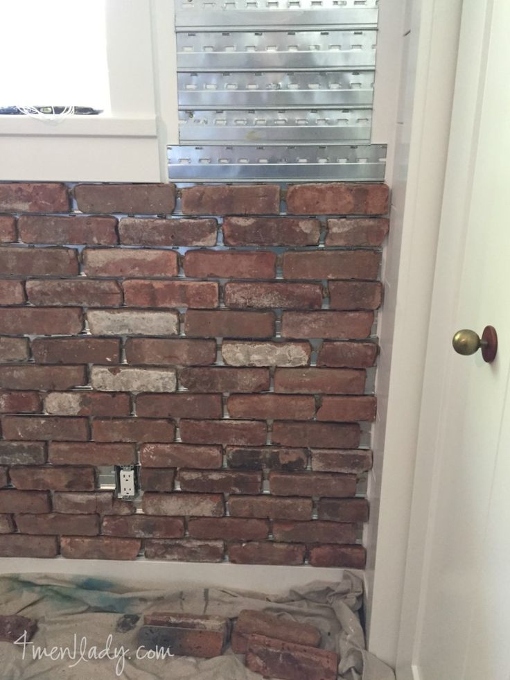 45 best basement remodel ideas images on pinterest basement remodeling basement renovations for Brick veneer for interior walls
