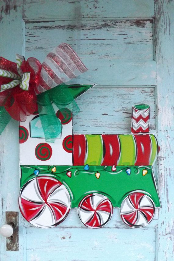 christmas train yard decoration woodworking projects plans