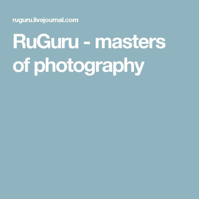 RuGuru - masters of photography