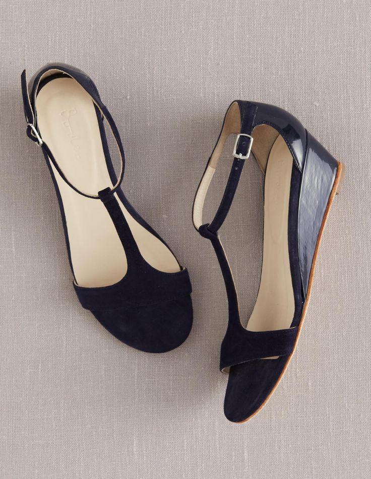 Boden Women S Brand New T Bar Demi Wedges Shoes Sandals