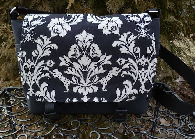 Echino leopard damask Falcon Mini Messenger Bag by Zoe's Bag Boutique