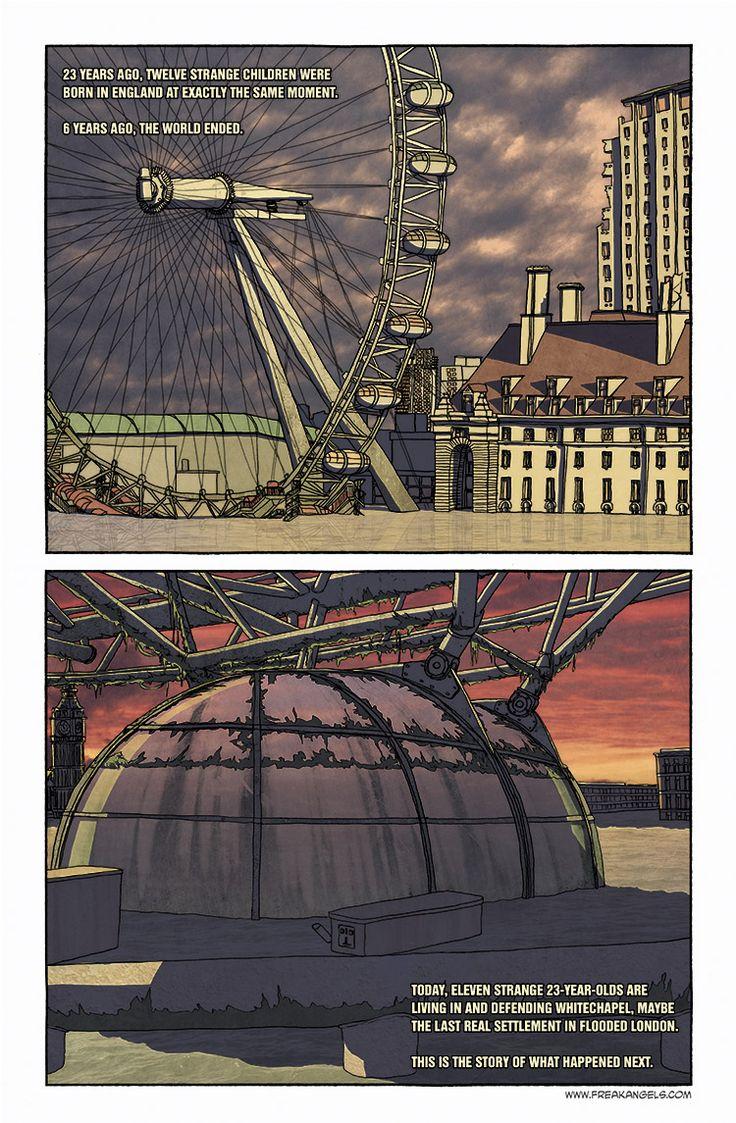 Freak Angels - submerged London Eye