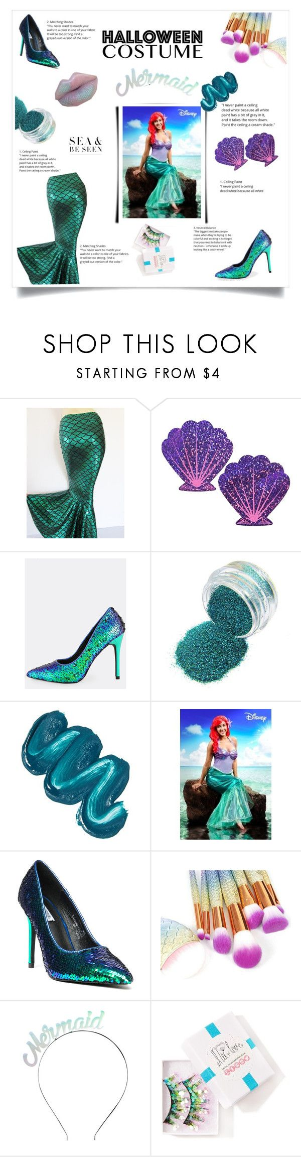 """""""Untitled #525"""" by natasharadmilovic78 ❤ liked on Polyvore featuring Pastease, Mermaid Salon, Disney, Cape Robbin, Crown and Glory and FromNicLove"""
