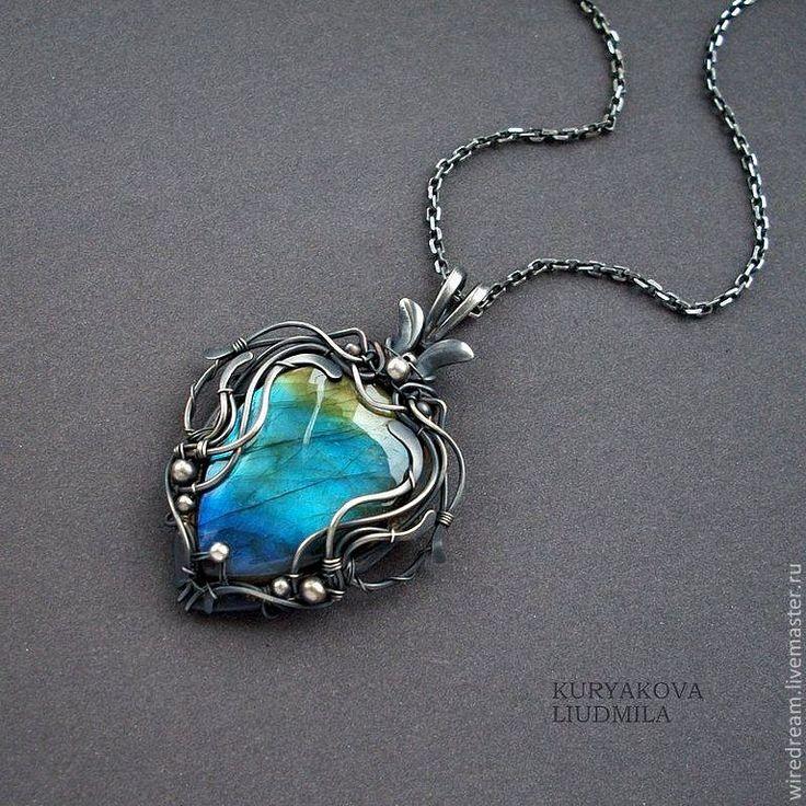 Купить серебряный кулон Фантазия - кулон, серебряные украшения, серебряный кулон, wire wrap, wiredream