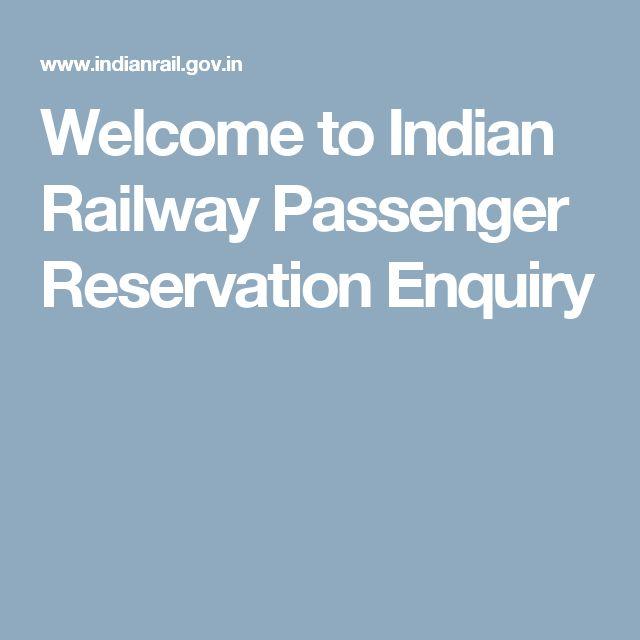 Best  Railway Reservation Enquiry Ideas On   Train