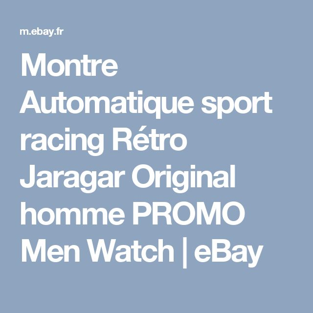 Montre Automatique sport racing Rétro Jaragar Original homme PROMO Men Watch | eBay