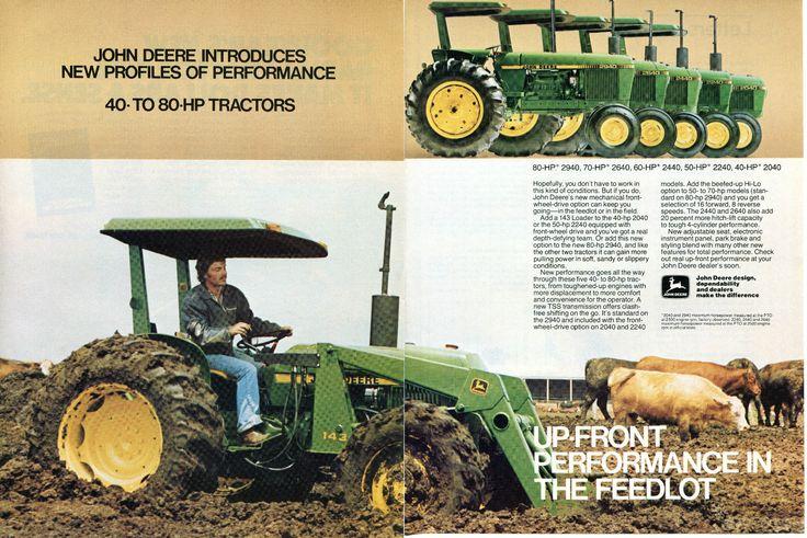 1980 John Deere 2940 2640 2440 2240 & 2040 Farm Tractor 2 Page Magazine Ad | eBay