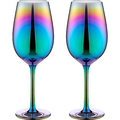 Iridescent Wine Glasses 2-pack   Home & Garden   George