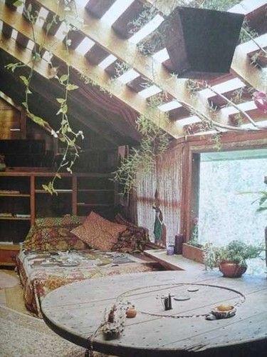 Echo friendly, hippy bedroom.