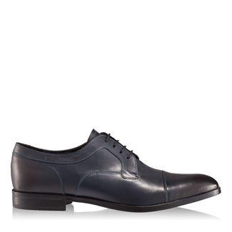 Pantofi barbati albastri 2878 piele naturala