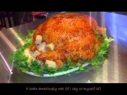 How to make a Turkey Cake ( Turcake ) - YouTube