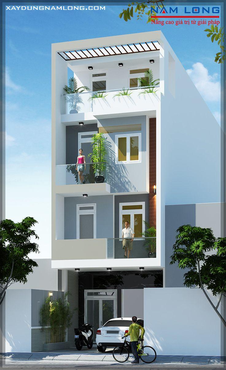 mẫu thiết kế nhà phố đẹp hiện đại quận 7
