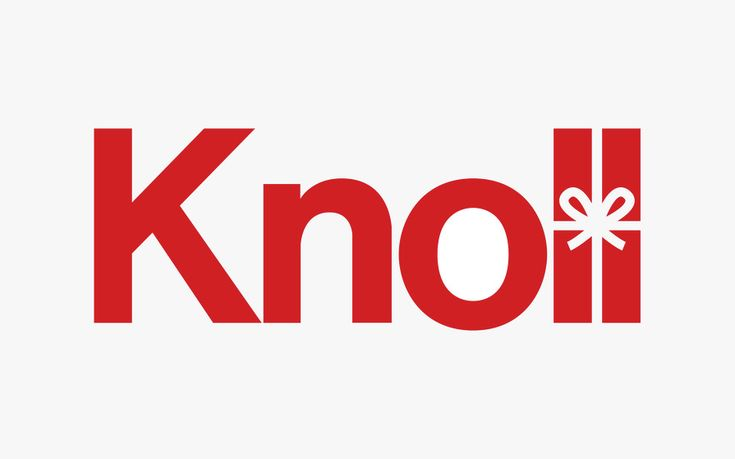 #logo for the Knoll Christmas collection - designed by NB Studio, London