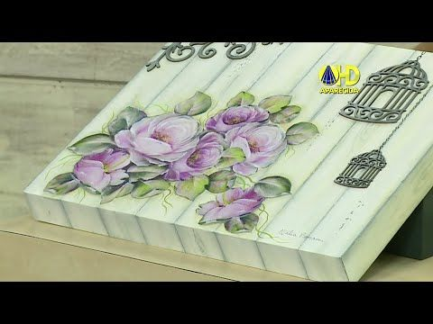 Sabor de Vida Artesanatos | Pintura de Buquê de Lavanda por Priscila Toste - 21 de Setembro - YouTube