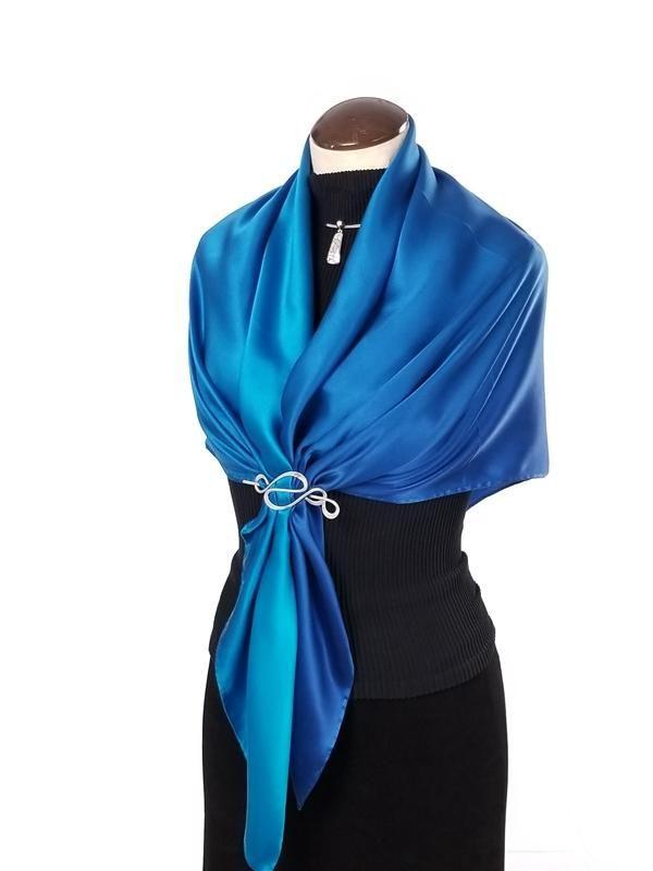 36c9b3d5760 Day & Night - Hand Painted Silk Scarf / Wrap | Silk scarves | Scarf ...