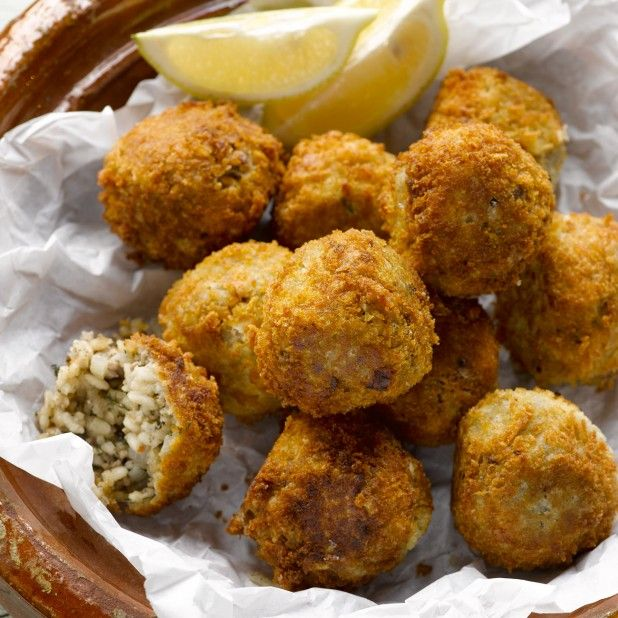 Lamb arancini I Ottolenghi recipes I These are lovely with tomato chutney, full-fat yoghurt or just a wedge of lemon.