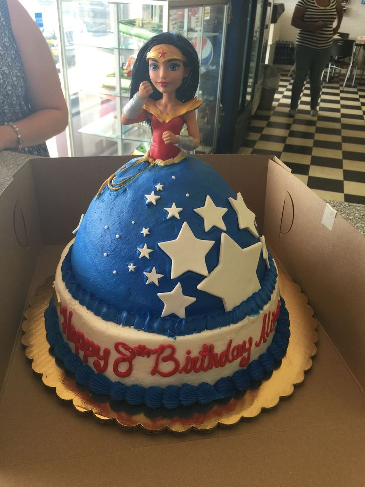Wonder women doll cake