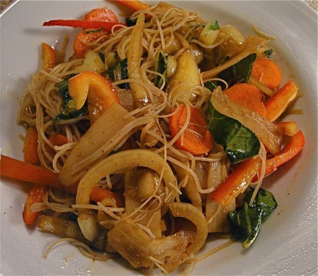 "Singapore Fried Rice Noodles (recipe from ""Asian Noodles"" by Nina ..."