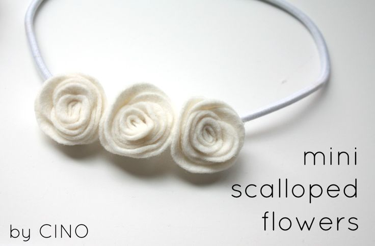 mini scalloped felt flowers – Craftiness Is Not Optional