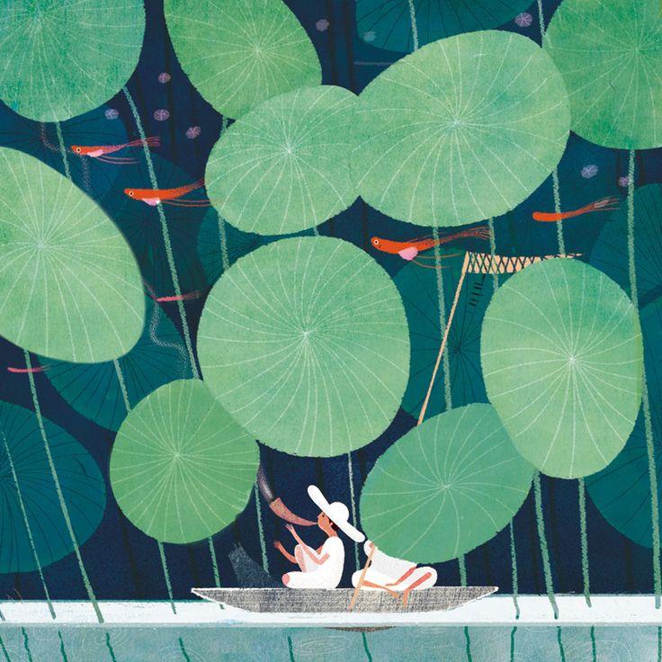 Decorative llustration | Zi Li(晚点的子狸) | Illustration, Painting, Drawing