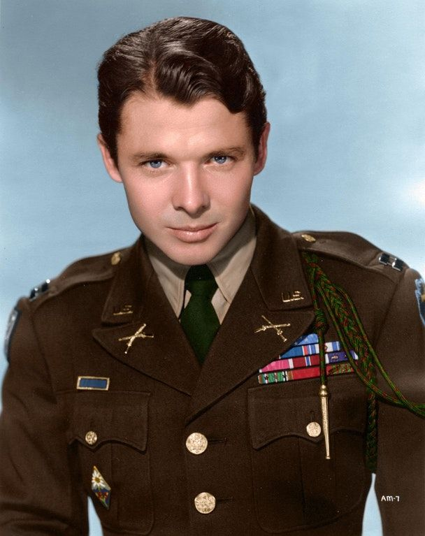 Audie Murphy, one of the most decorated combat soldiers of the second world war - he received every military combat award for valor available from the Army, as well as Belgian and French awards for heroism