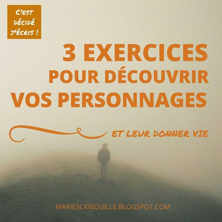 3 exercices pour donner vie à vos personnages