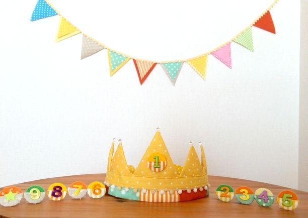 毎年祝おう♪布のお誕生日かんむり&ガーランド