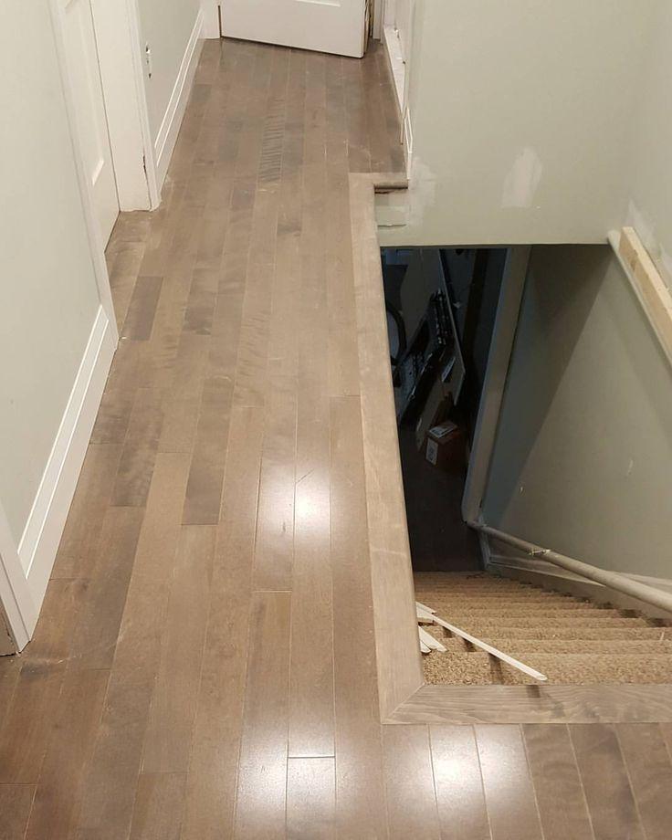 maple hardwood flooring installed in Toronto #hardwoodfloors #hardwoodflooring #flooring #toronto #torontobuilds #king #luxury #instagood #artflooring #parqueteam #canada #canadian #house #mississauga #ontario #vaughan #thornhill #demolition #construction #contractor #laminate #contractorlife