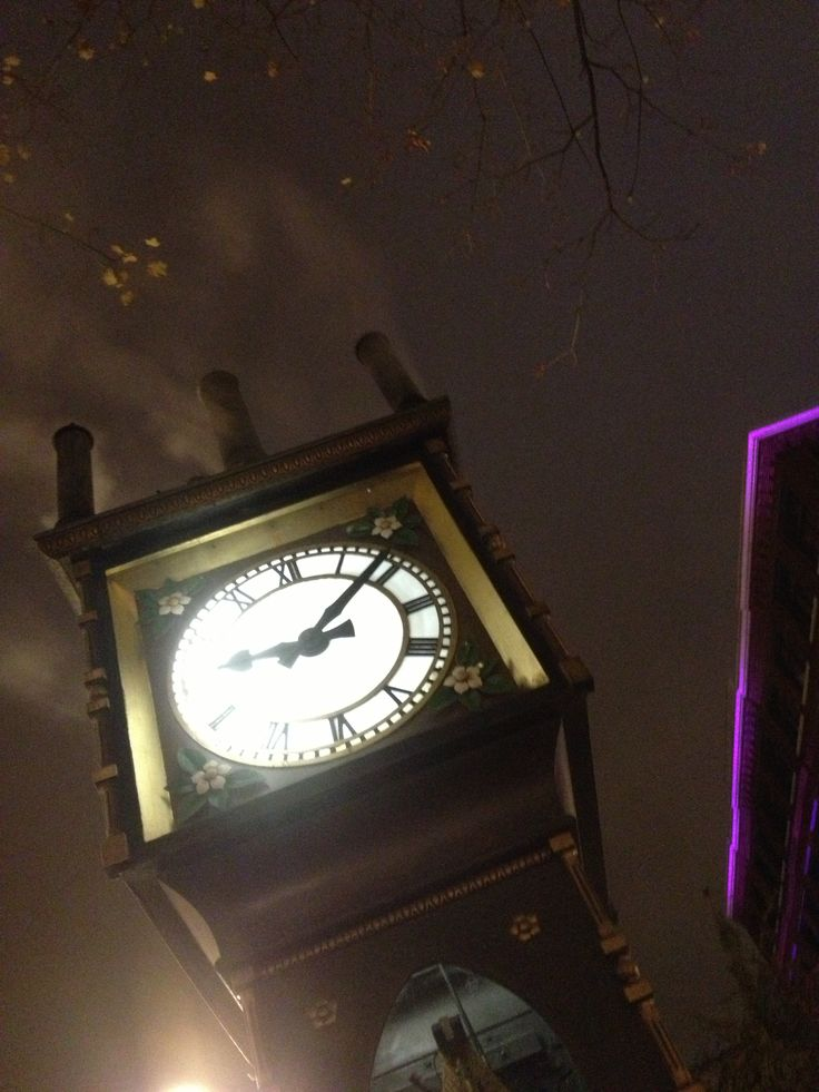Steam clock in Gastown. Vancouver, BC.