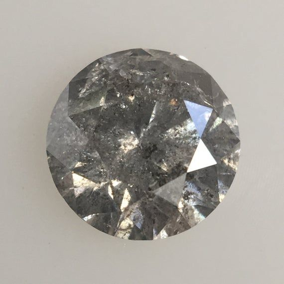 0.63 Ct Fancy Gray Color Round Brilliant Cut Natural Loose Diamond, 5.38 mm X 3.45 mm Grey Round Loo