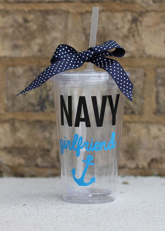 really awesome Etsy navy girlfriend cup at https://www.etsy.com/listing/181624357/personalized-navy-girlfriendwife-16-oz