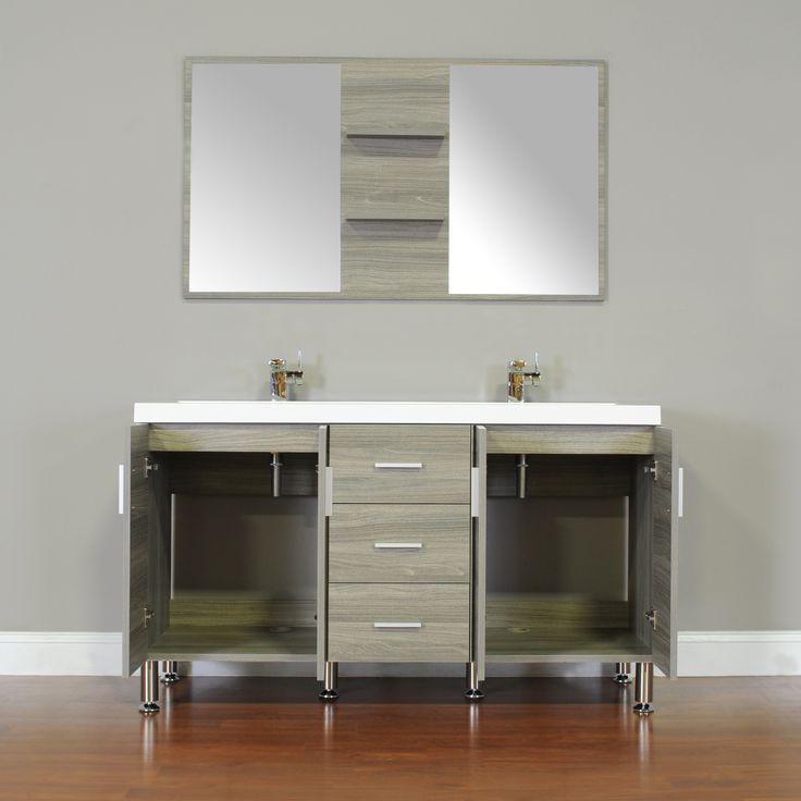 ALYA AT 8043 L 56 Double Modern Bathroom Vanity   Gray90 best Kids Bathroom images on Pinterest   Kid bathrooms  Double  . Modern Bathroom Vanities Ft Lauderdale. Home Design Ideas