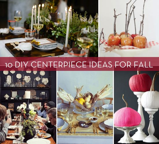 10 DIY centerpieces for Autumn via Curbly