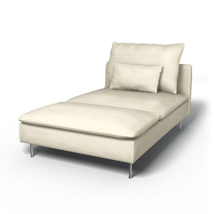 Söderhamn, Sofabezüge, Récamiere, Regular Fit diesen Stoff anwenden Panama Cotton Absolute White