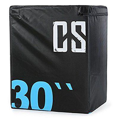 CAPITAL SPORTS Rooko Soft Jump Box Weichboden Matte Plyo Box (76x61x51 cm, für plyometrisches Sprung-Training, stabile Innenbox aus Holz, Vinyl-Cover) schwarz