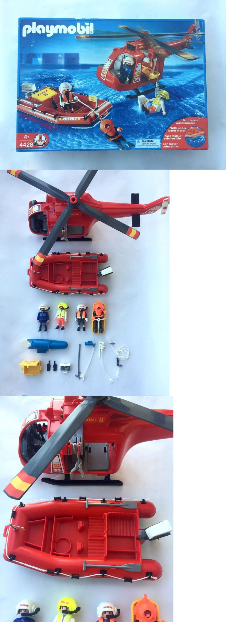 Playmobil 19854: Playmobil 4428 Set Rescue Helicopter And Raft -> BUY IT NOW ONLY: $59.99 on eBay!