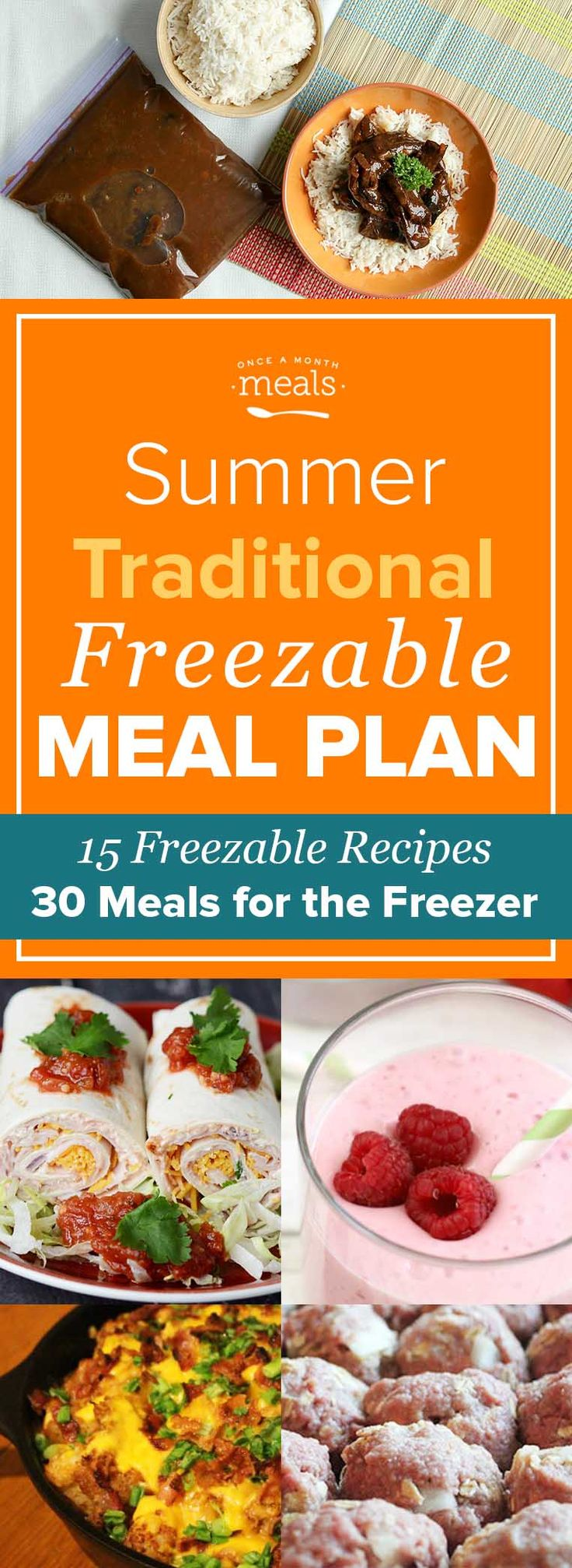 Back to school, last minute vacations, family reunions, and birthday parties! This Summer Traditional Freezer Menu will keep you prepared!