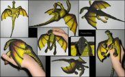 Tutorial to make a freakishly cute baby dragon plush.  In Finnish, but Google Translate works great onnit
