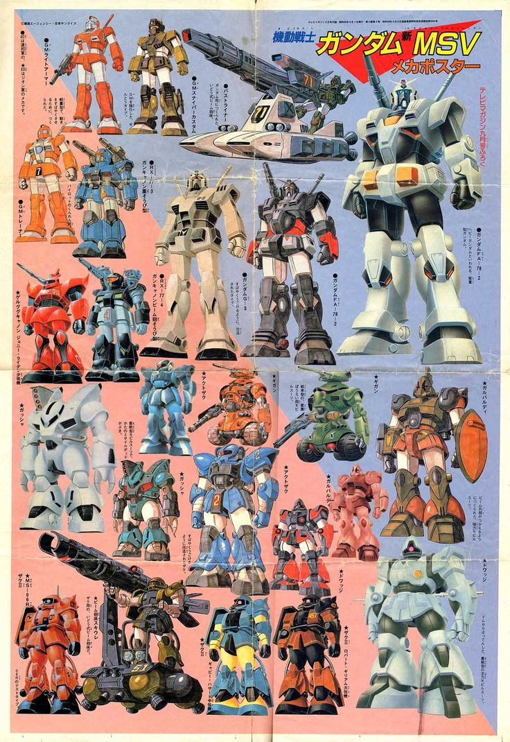 Mobile Suit Gundam MSV all Zeon MS
