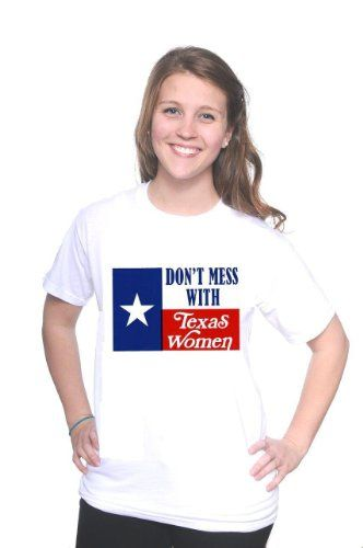 Mytshirtheaven T-shirt: Dont Mess With Texas Women (Texas Flag) - xlarge white