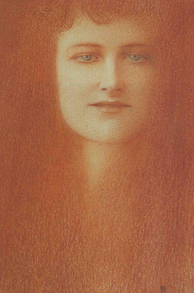 Fernand Khnopff. Etude de femme, 1891.: