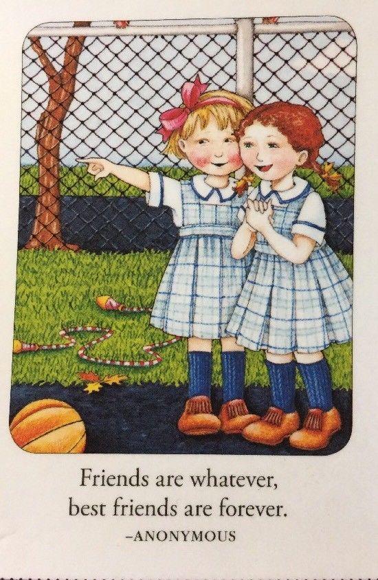 Friends Are Whatever-Handmade Fridge Magnet-Mary Engelbreit Artwork