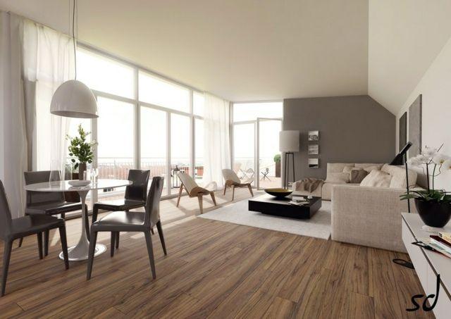 Décoration salon et séjour en gris et beige