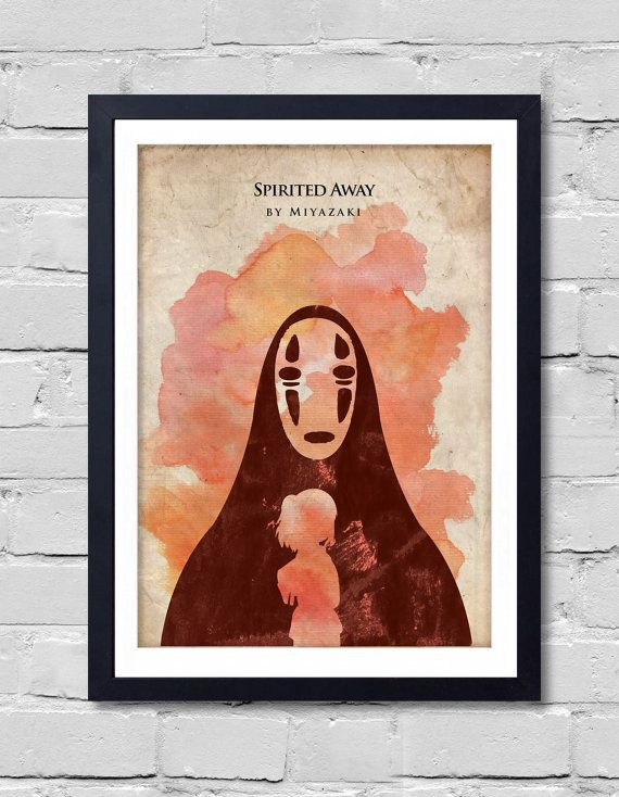 Spirited Away Hayao Miyazaki Minimalist Movie Poster by ...