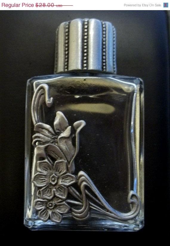 Calla Lily Perfume Bottle JJ Jonette vintage pewter @dollherupshop $21.00
