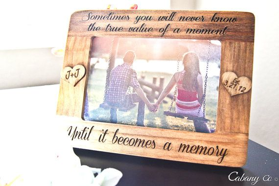 Personalized Picture Frame Engraved Frame for Couple by CabanyCo