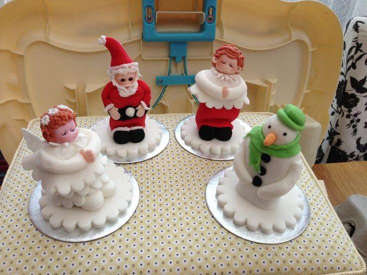 Christmas mars bar figures