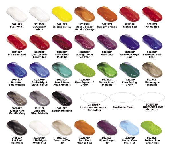 Auto Paint Color Chips