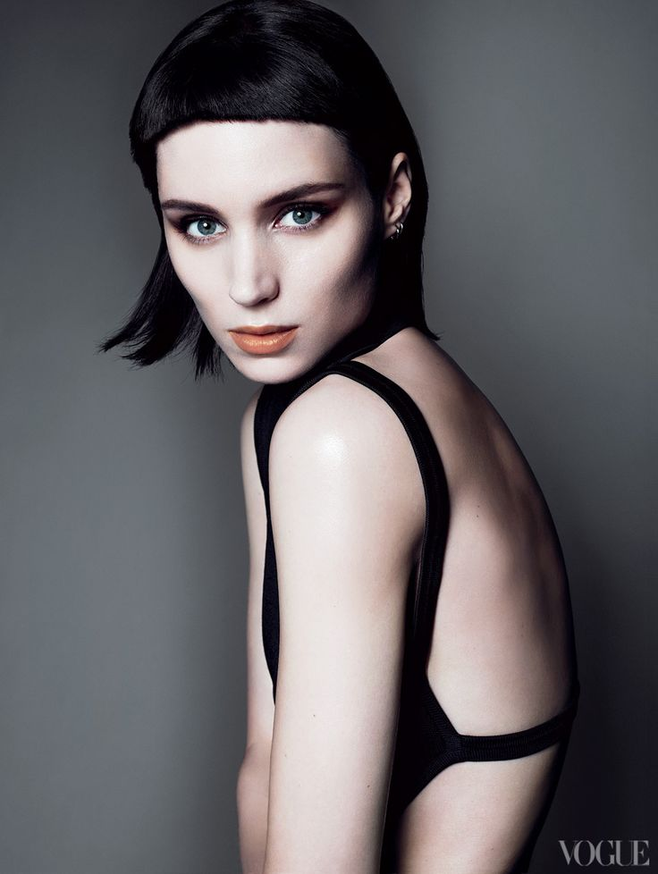 """""""There were all these versions of Lisbeth Salander, but the one that had the most layers was Rooney's,"""" says director David Fincher. Alexander Wang knit top.  Fashion Editor: Tonne Goodman."""